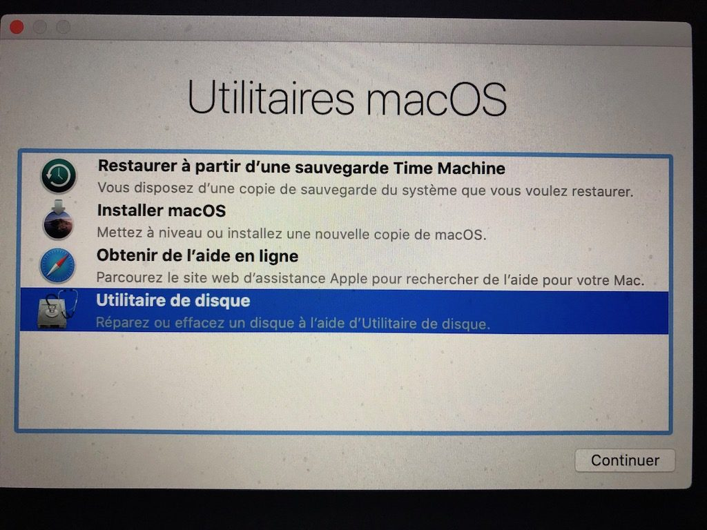 formater mac pour clean install