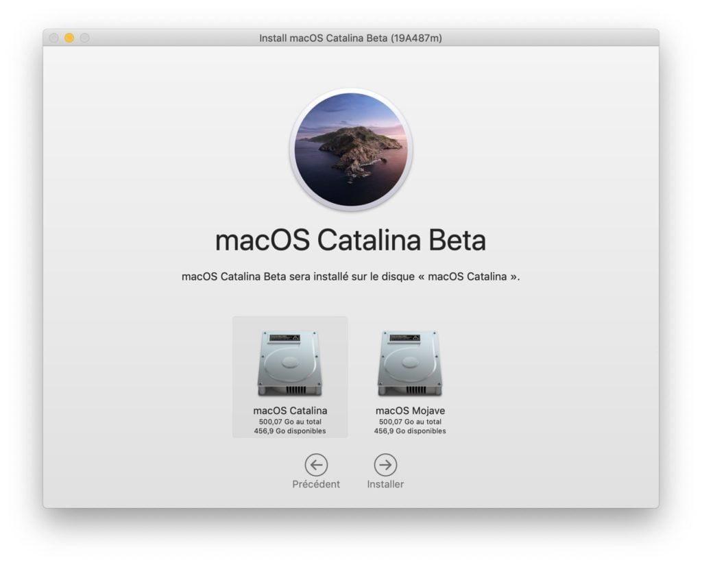 Installer macOS Catalina sur une autre partition
