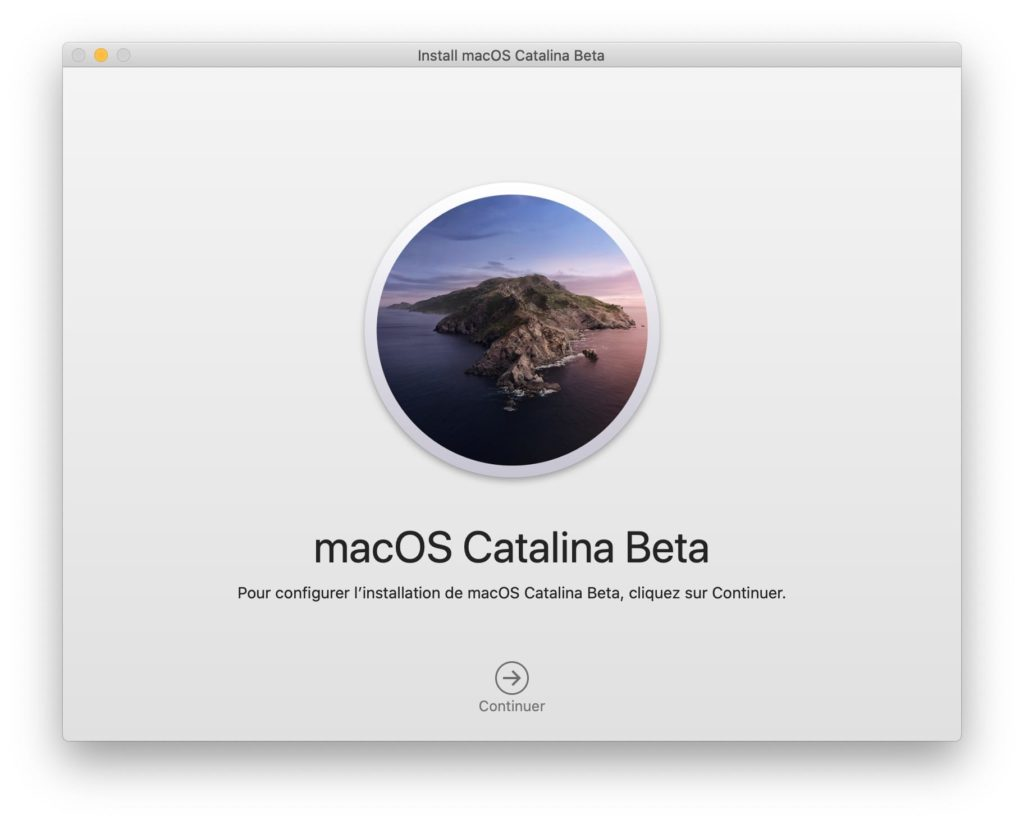 Installer macOS Catalina update par dessus Mojave