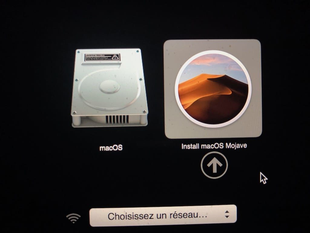 downgrader catalina vers mojave avec cle usb bootable
