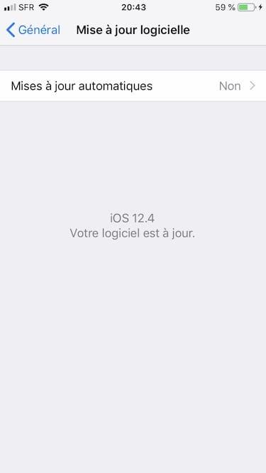 iOS 12.4 mise a jour logicielle
