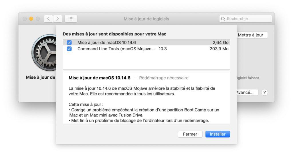 mac os 10.14.6 nouveautes