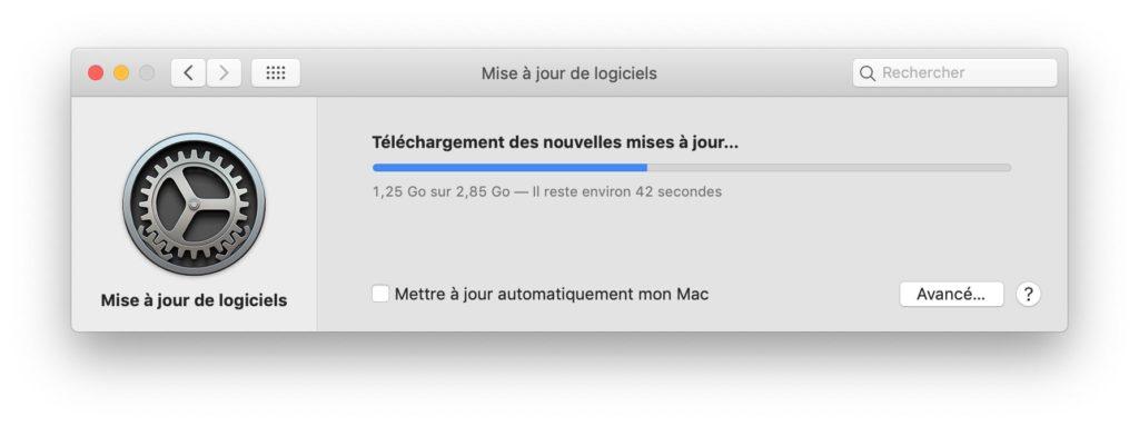 telechargement des nouvelles mises a jour macos mojave 10.14.6