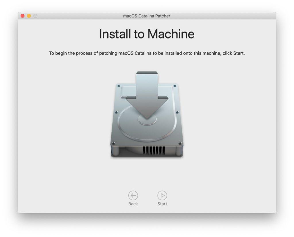 install macos catalina sur mac non compatibles officiellement