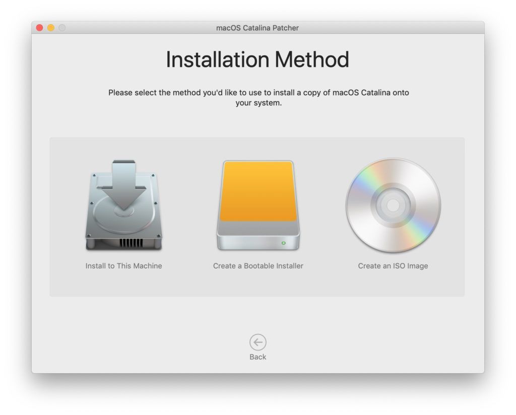 installer catalina sur ancien macbook