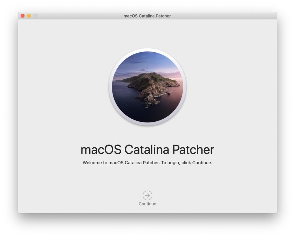 macos Catalina patcher installation