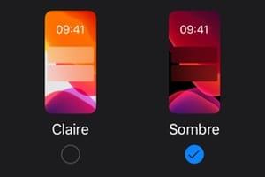 Activer le mode sombre sur iPhone ios 13