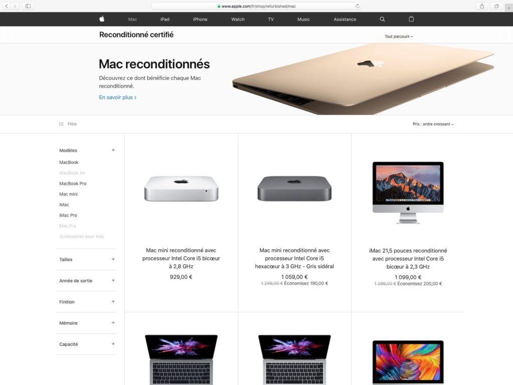 changer vieux mac par mac reconditionne en refurb
