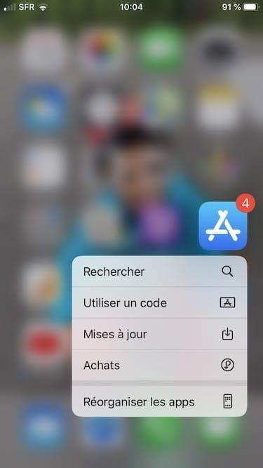 mises a jour apps ios 13 avec 3d touch
