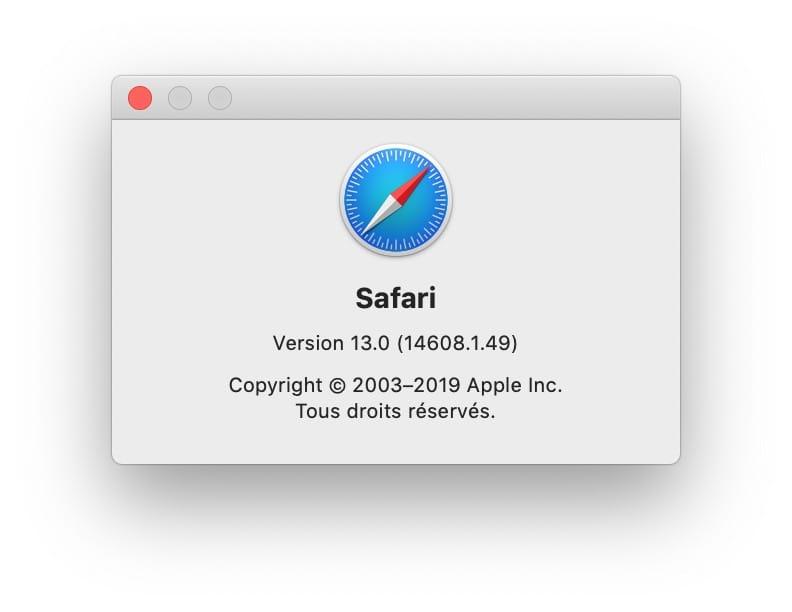 safari 13 pour Mac