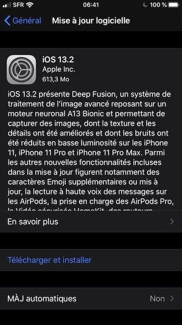 iOS 13.2 maj OTA