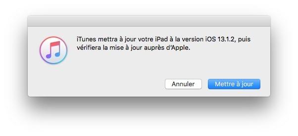 iPadOS 13.1.2 correctif
