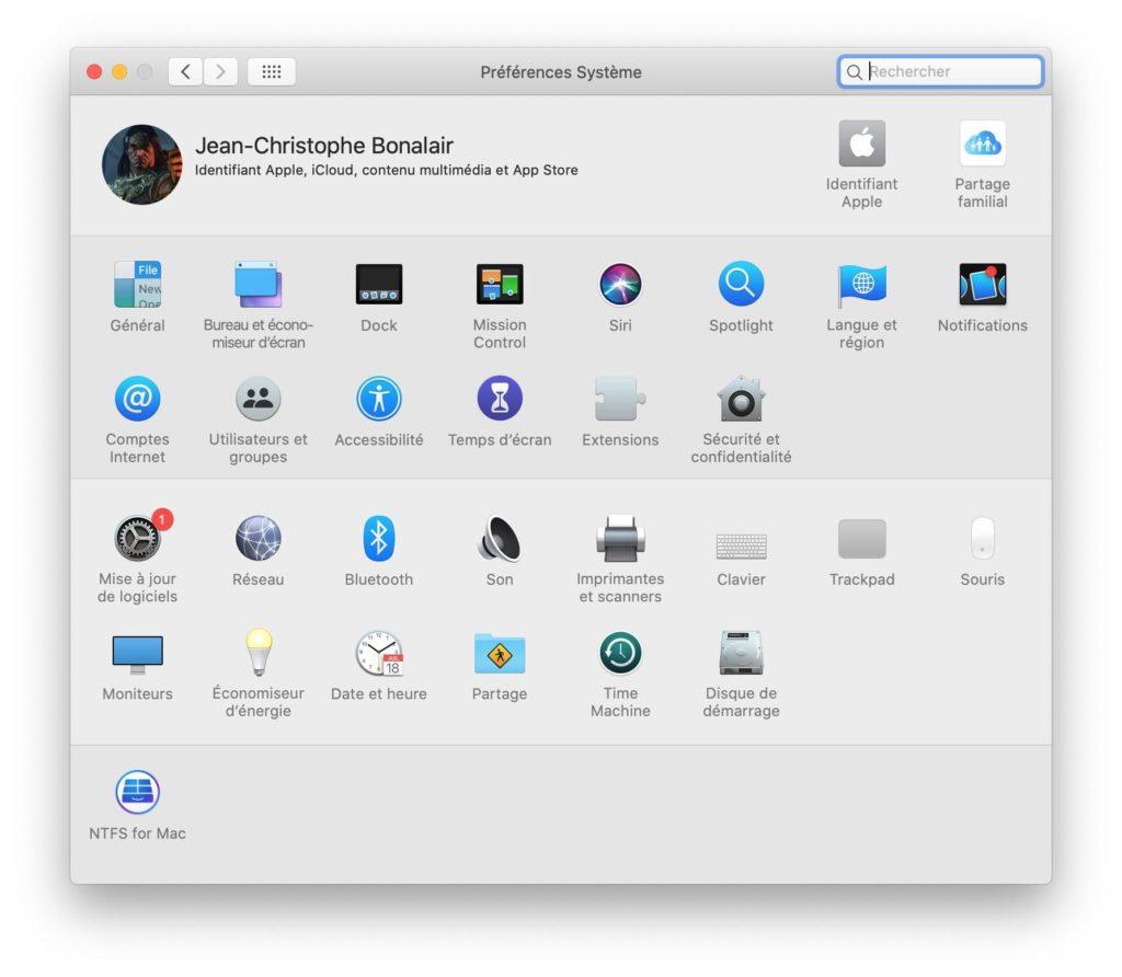 macOS Catalina10.15.1 mise a jour de logiciels