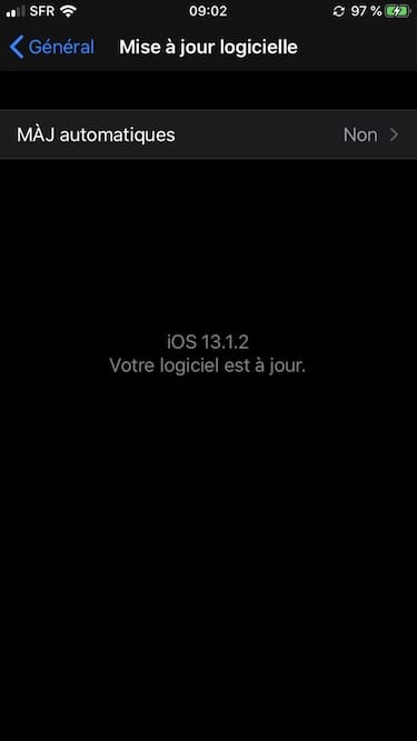 mise a jour logicielle ios 13.1.1 iphone ipod touch