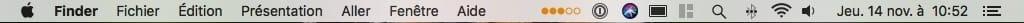 Afficher la puissance WiFi sur Mac petits points