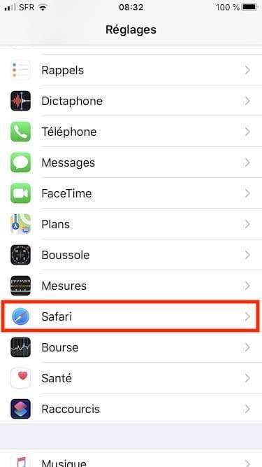 Fermer automatiquement les onglets de Safari sur iPhone Reglages