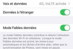 Activer le Mode Faibles données sur iPhone iPad iPod touch