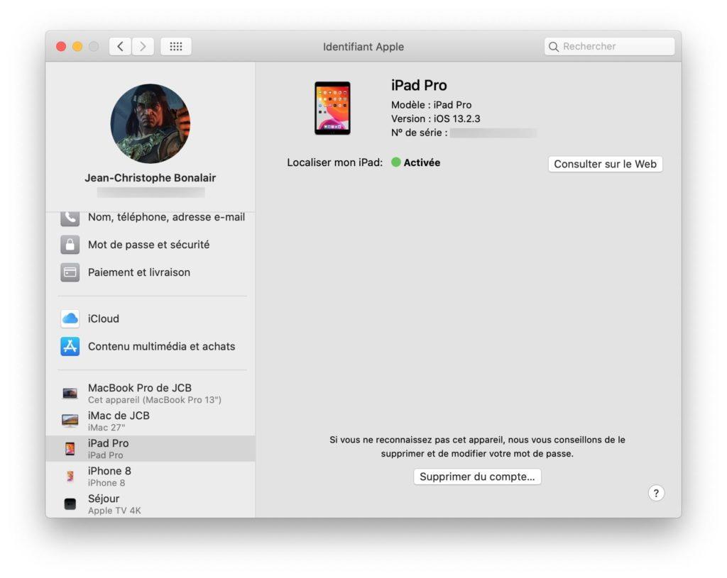 Localiser iPad
