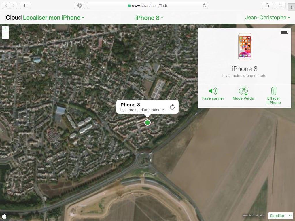 Localiser iPhone avec iCloud Find