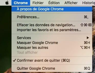 Mettre a jour Google Chrome Mac a propos de google chrome
