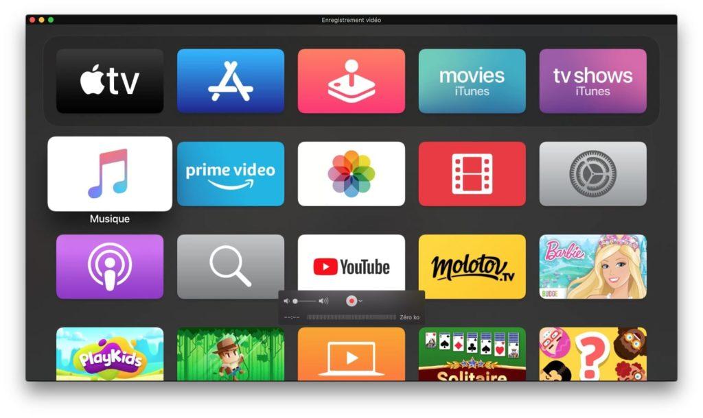 faire screenshot apple tv 4k avec son mac