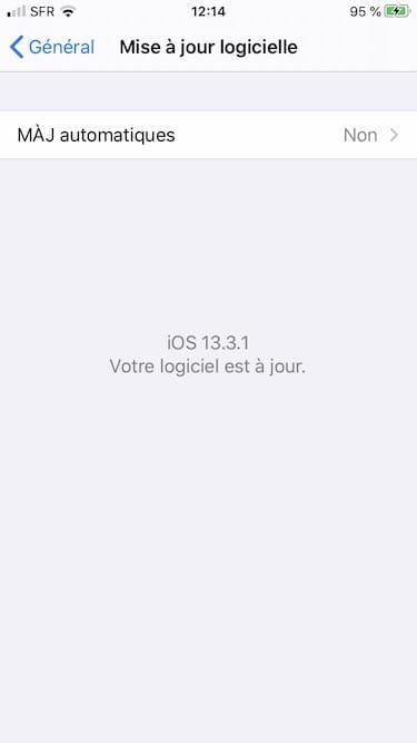 iOS 13.3.1 et iPadOS 13.3.1 iphone iPad iPod touch 7