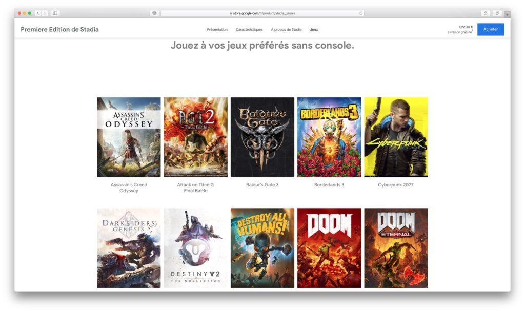 jouer sur mac google stadia