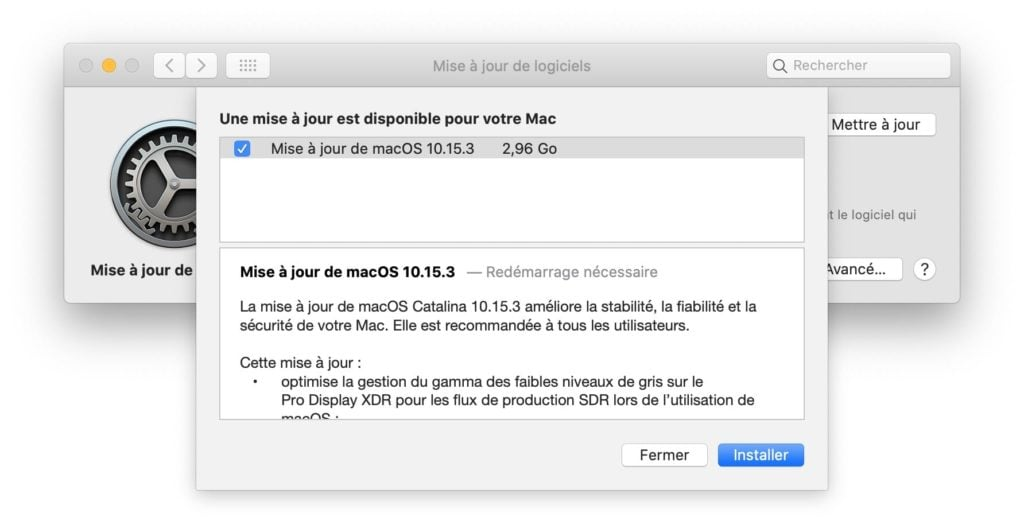 macOS Catalina 10.15.3 en savoir plus