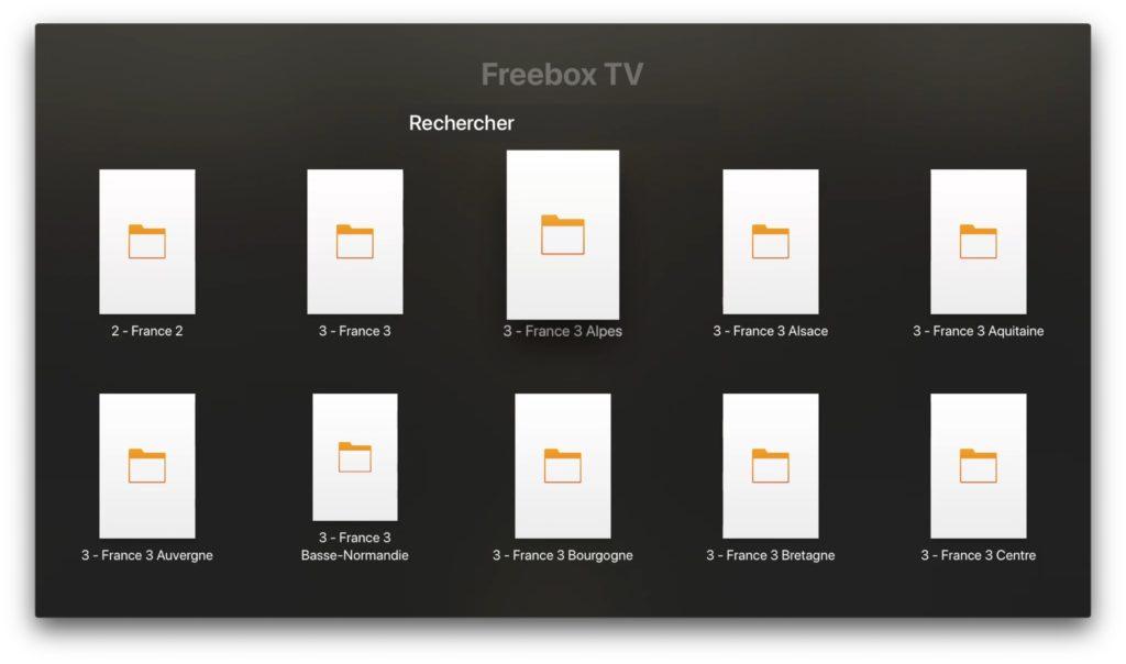 toute la tv sur apple tv et freebox