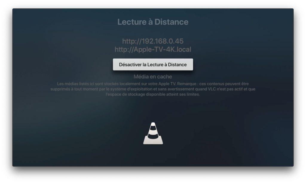 transferer une video sur apple tv 4k avec vlc