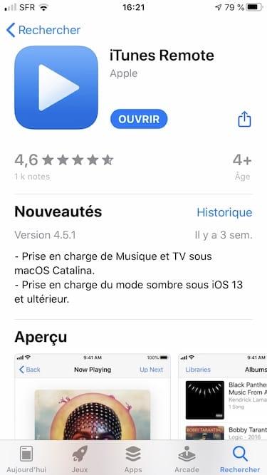 Utiliser son iPhone comme telecommande pour iTunes telecharger itunes remote