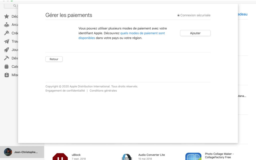 ajout mode paiement apple sur mac os tutoriel