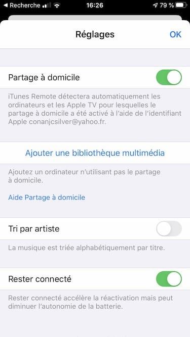itunes remote ajouter une bibliotheque multimedia