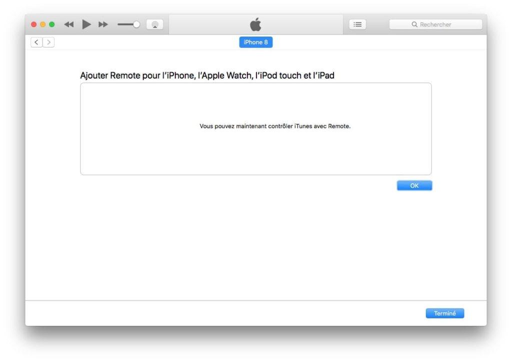 itunes remote controler bibliotheque iTunes Mac ou PC