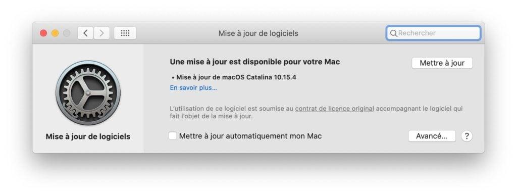 macOS Catalina 10.15.4 disponible au telechargement