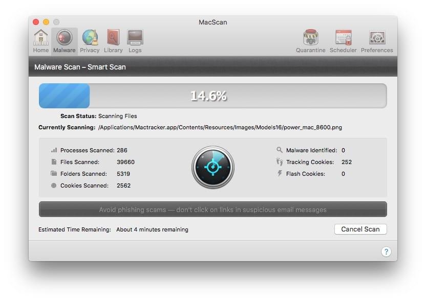 scanner son mac pour les malwares