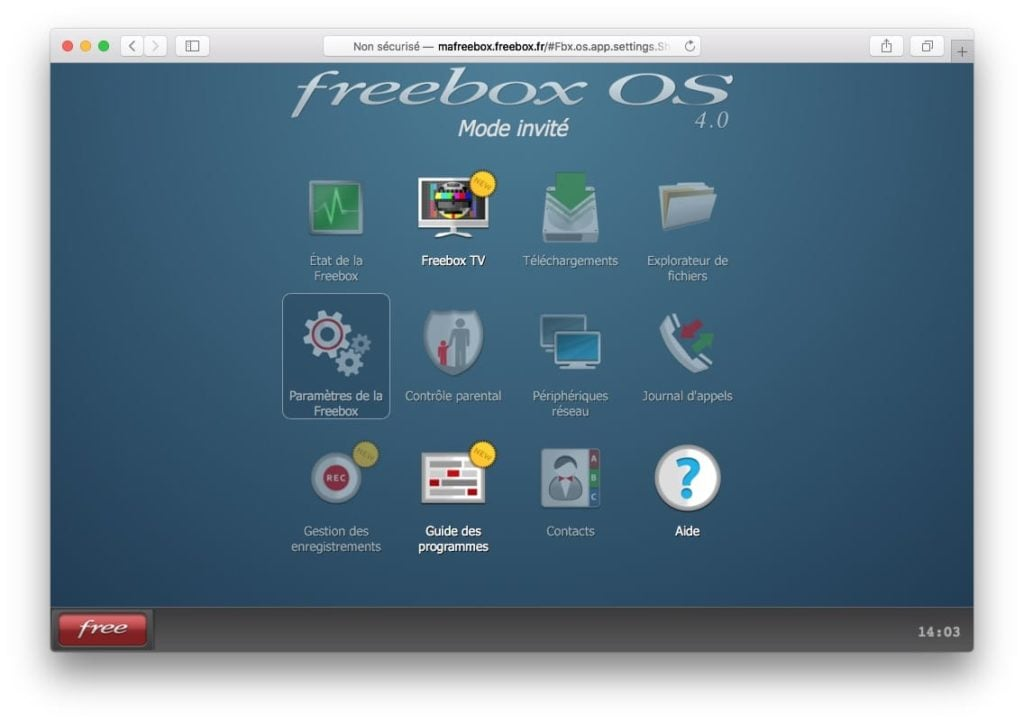 Connecter son Mac a sa Freebox parametres de la freebox