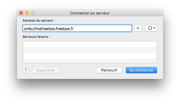 adresse smb freebox mac