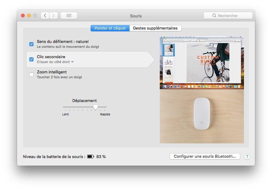 changer clic secondaire sur mac