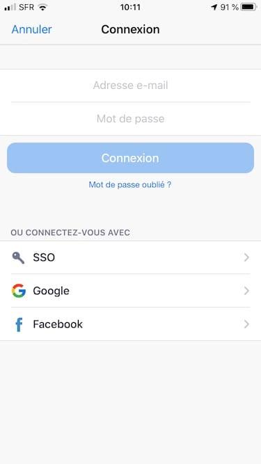 connexion a zoom avec iphone