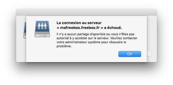 la connexion au serveur ma freebox.freebox.fr a echoue