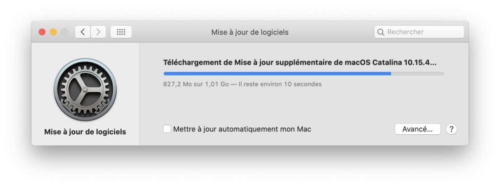 mac os 10.15.4 update telechargement