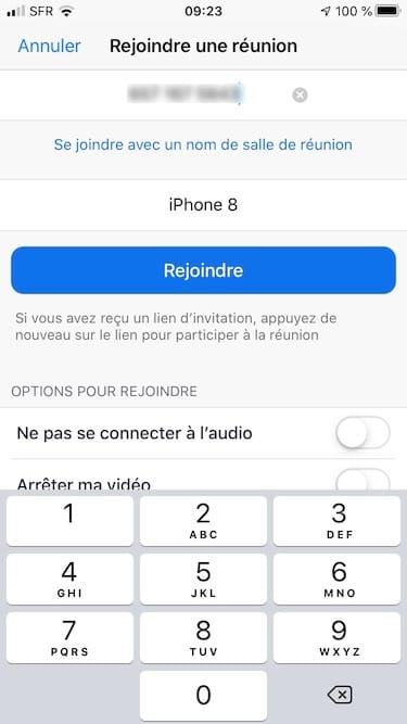 zoom iphone numero reunion