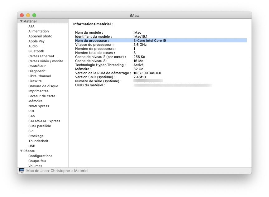 Analyser son CPU sur Mac