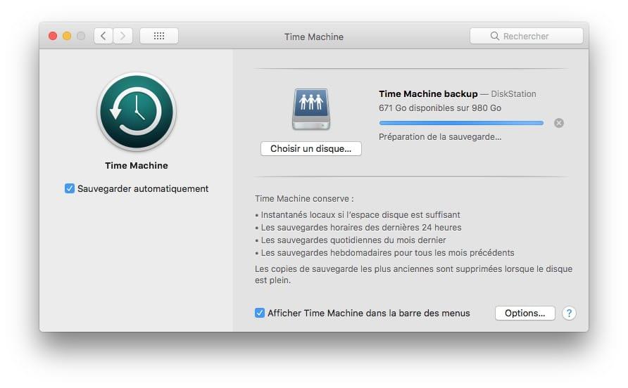 effacer son Mac avant de le vendre sauvegarde time machine