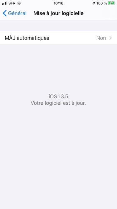 iOS 13 5 mise a jour logicielle