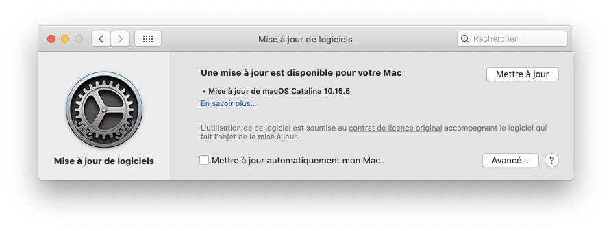 macOS Catalina 10.15.5 disponible