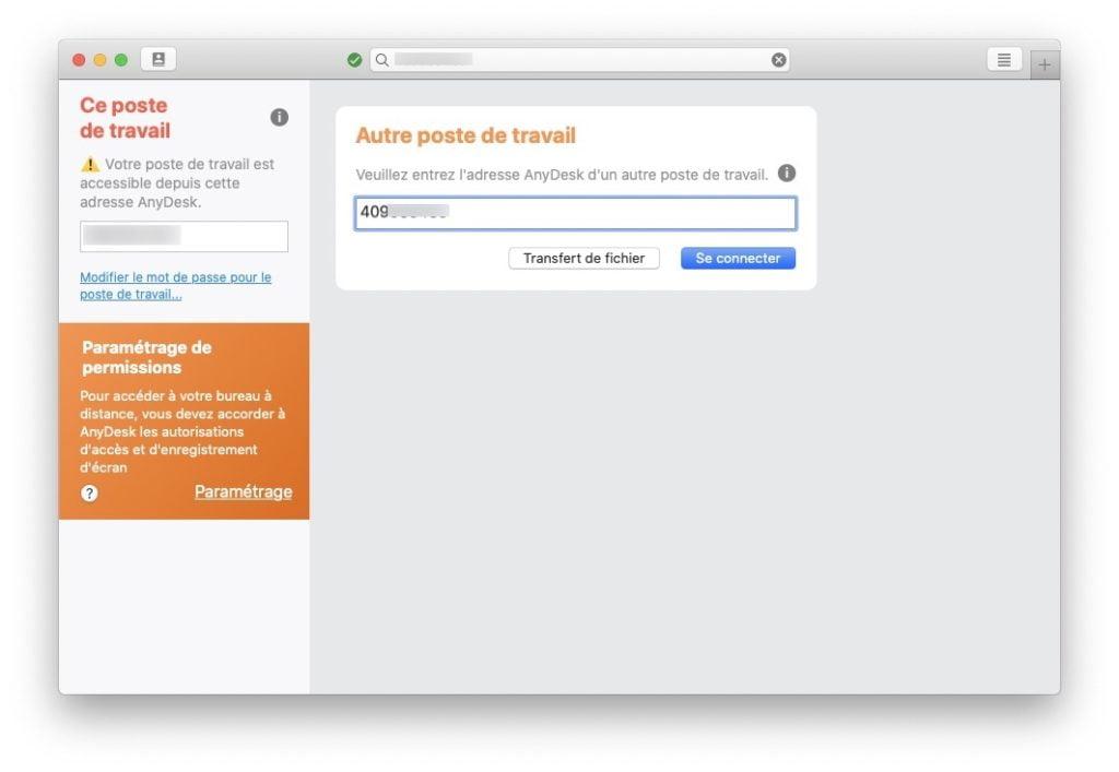 connecter ecran iphone sur mac Anydesk