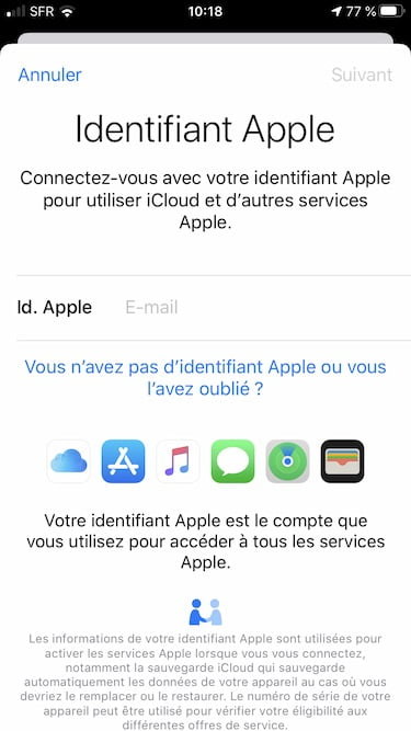 creer un identifiant Apple sans mode de paiement