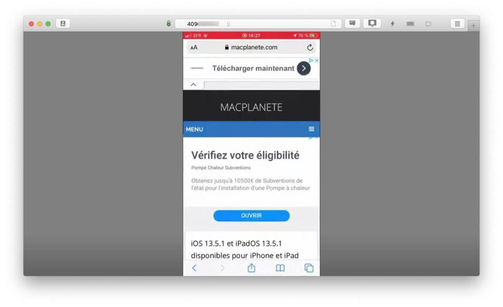 voir ecran iphone ipad ipod sur Mac ou sur PC